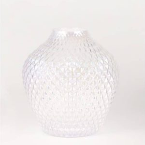 contemporary cut glass vase