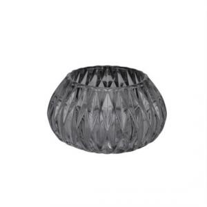 grey cut glass tea light