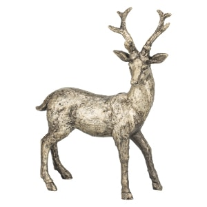 bronze stag ornament