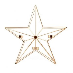 bronze star tealight holder