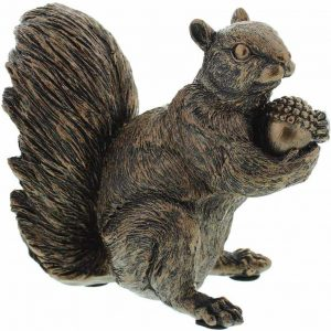 bronze squirrel ornament