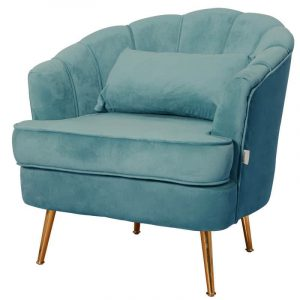 tiffany blue velvet armchair