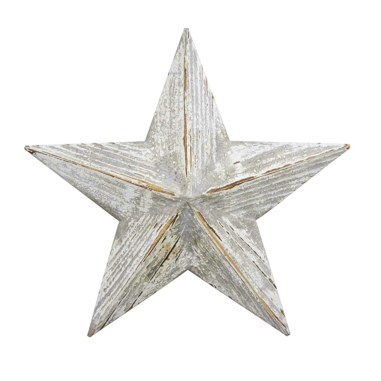 wooden white wash star