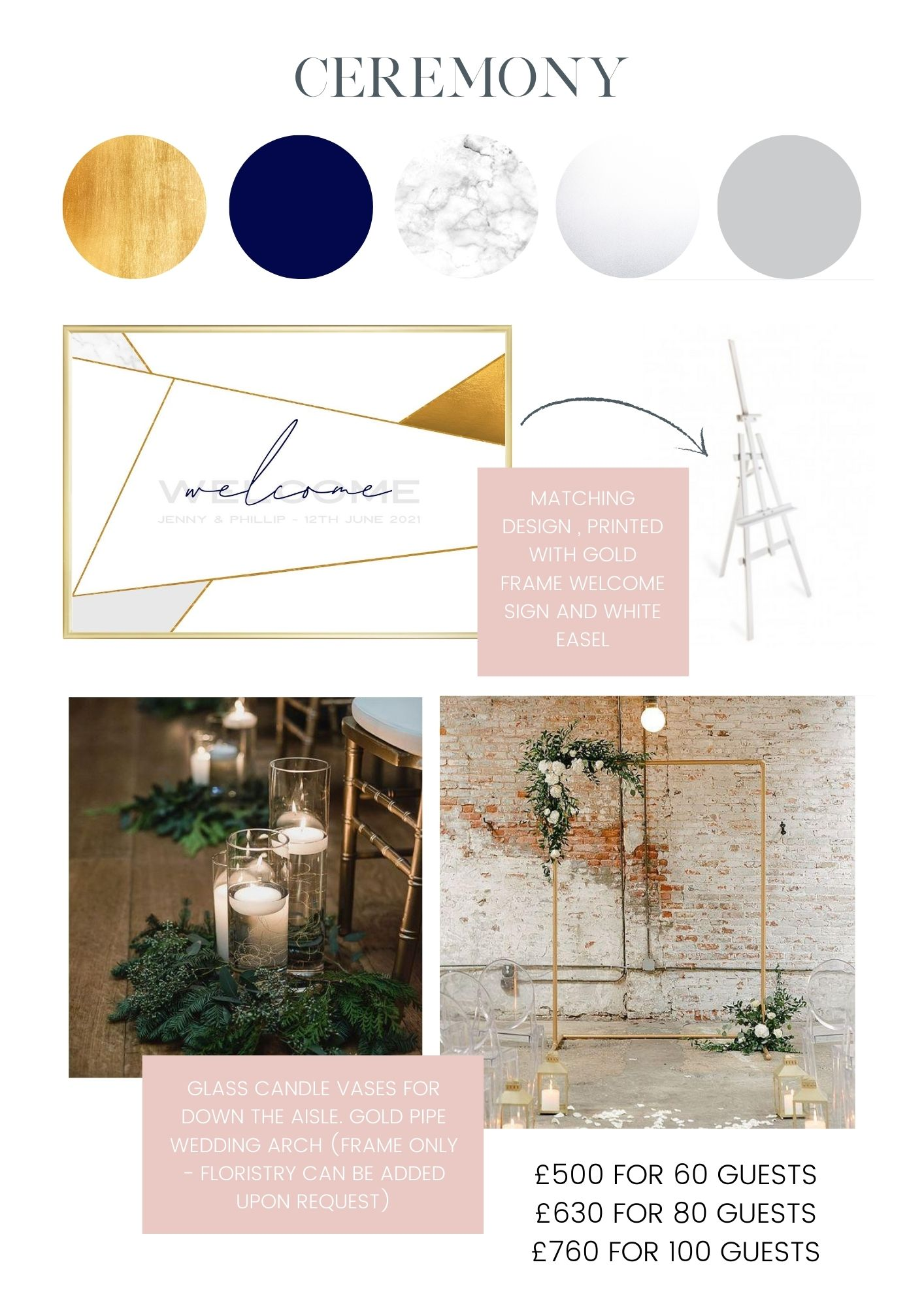 Wedding decor hire package - Winter