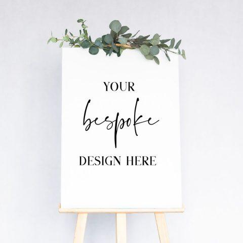 custom design wedding sign