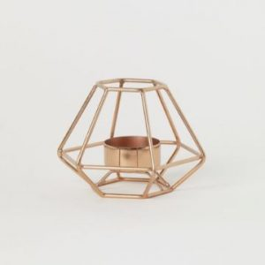copper geometric tea light