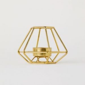 gold geometric tea light