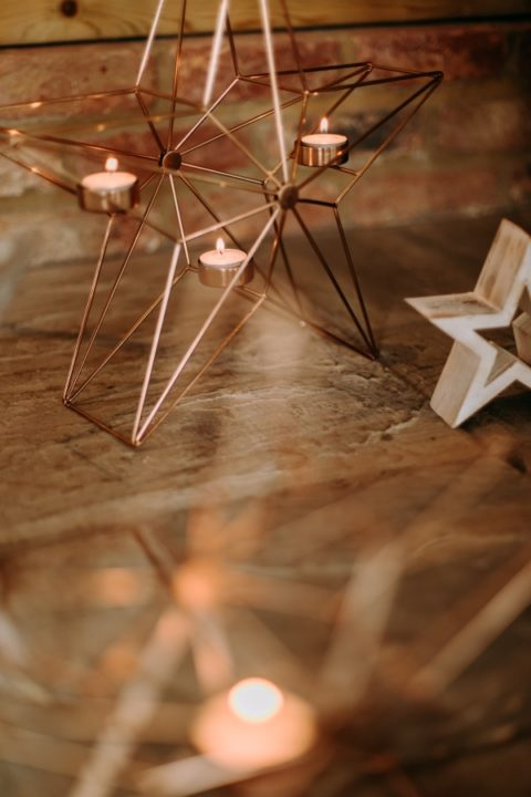 Star tea light holder hire