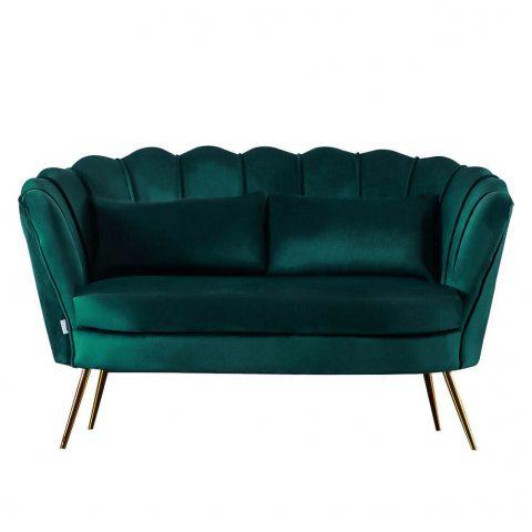dark green velvet sofa hire